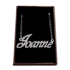 White Gold Plated Name Necklace - JOANNE - Gift Idea For Her - Stylish Designer