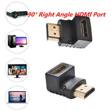 90 Degree Right Angle HDMI Male to Female M/F Adapter Coupler Extender 1080p CA