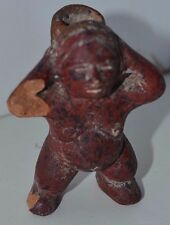 Vintage Mayan Woman Figure Clay Terracotta Aztec Figure Statue