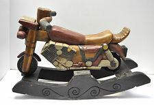 Antique Style Handmade Wooden Motorcycle Design Decorative Rocking Horse 20""