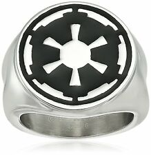 Star Wars Jewelry Mens Imperial Symbol Stainless Steel Ring Size 7