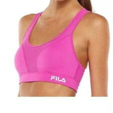 Fila Sport Bra: Runner's High- Impact Printed Sports Bra, Purple Berry, Size XS