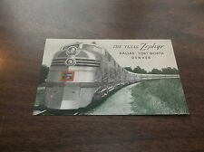 1950's CB&Q BURLINGTON ROUTE TEXAS ZEPHYR UNUSED SOUVENIR POSTCARD