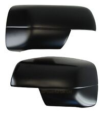 Satin BLACK FULL MIRROR COVERS for Range Rover L322 Vogue 2005+ wing door matt
