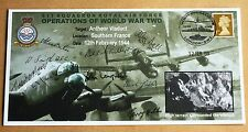 ANTHEOR VIADUCT RAID 2009 COVER SIGNED BY 9 MEMBERS OF 617 DAMBUSTERS SQUADRON