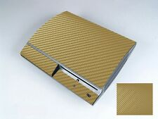 Golden Carbon Fiber Vinly Decal Skin Sticker Cover For Sony PS3 PlayStation 3