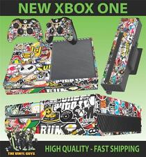 XBOX ONE CONSOLA PEGATINA STICKERBOMB VERSION 2 PIEL & 2 PAD SKINS