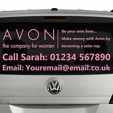 AVON Rep or manager - Window advert sticker graphic for car - Business SI4