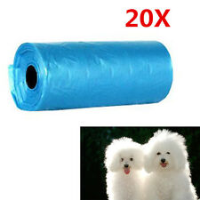 20 Rolls 400 Dog Pet Waste Poop Poo Refill Core Pick Up Clean-Up Bags Economical