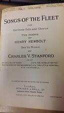 Stanford: chansons de la flotte: musique vocale score