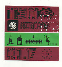 Orig.Ticket  Olympische Spiele MEXICO 1968  Fussball  MEXICO - GUINEA  !  SELTEN