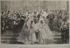 MARRIAGE PRINCESS LOUISE & MARQUIS OF LORNE ST GEORGES HARPER'S WEEKLY 1871