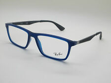 NEW Authentic Ray Ban RB 7056 5393 Blue 53mm RX Eyeglasses