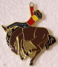 Hat Lapel Pin Scarf Clasp Animal Horse Rodeo Bronco Rider NEW