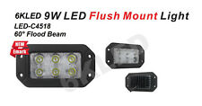"9W 3.5"" X 6"" OFFROAD LED Work Light Flushmount 60 degree Flood Beam Wide range"