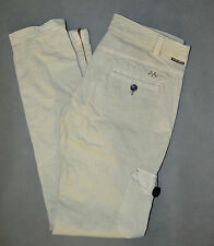 Thomas Burberry BURBERRY BRIT Women Beige Cotton Stretch SKINNY Trousers Pants