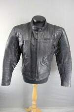 CLASSIC BUFFALO BLACK LEATHER BIKER JACKET 40 INCH