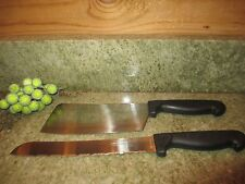 Chef Deluxe Miracle Edge  Rostfrei Stainless Set of 2 Knives Butcher & Bread