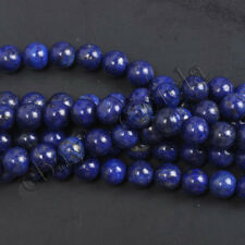 Natural Gemstone Agate Blue Sand Opal Round Loose Beads 4-12MM Jewelry Findings