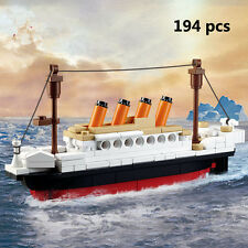 New DIY 194 pcs Titanic Small Style Building Blocks Kids Toy Fit for children