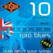3 x SETS Rotosound RH10 Roto Blues Electric Guitar Strings 10 - 52. 3 SET PACK !