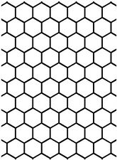 Darice Embossing Folder ~ Honeycomb ~  Deep Impression  Dime Shapes A2 1218-61