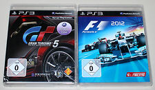 2 PlayStation 3 juegos set-gran turismo 5 & f1 formula 2012-ps3 rennspiel