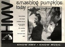 "18/9/93PGN21 SMASHING PUMPKINS : TODAY SINGLE ADVERT 7X11"" HMV"