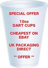 Cheap Disposable Foam Cups 10oz Polystyrene x 100 Offer Tea Coffee Hot/cold Dart