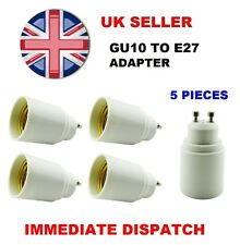 5 x GU10 To E27 Bulb Base Lamp Socket Fitting Extender Converter Adaptor Holder