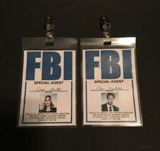 Xfiles Mulder Scully Fbi Agent Set Costume iD Badge Cosplay Halloween Season 10