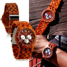 Luxury Wood Watch Wooden Wristwatch Quartz Men's Wrist watch Gift Watches w/ Box