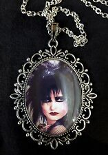 Siouxsie Large Antique Silver Pendant Necklace Music Icon Punk Goth