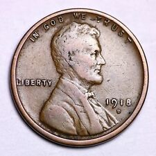 1918-D Lincoln Wheat Cent Penny LOWEST PRICES ON THE BAY!  FREE SHIPPING!