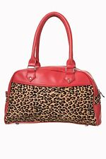 Leopard Print 50s Rockabilly (TORI) HandBag By Banned Apparel