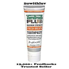 THERABREATH PLUS MAX STRENGTH FRESH BREATH TOOTHPASTE FOR BAD BREATH 113.5G