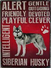 Siberian Husky Pet Metal Sign