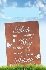 Edelrost Gedichttafel Tafel Spruch Schild Aufhänger Bild Wanddekoration Metall