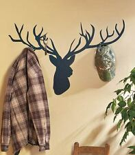 Deer Wall Mural with Hooks PVC Lodge Cabin Vinyl Wall Art Deer Antler Hooks