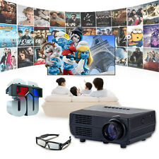 Home Theater Portable USB HDMI TV VGA HD LED Video Pico 1080P 3D Mini Projector