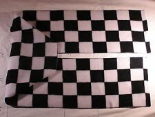 Checkerboard Black and White Fleece Scarf