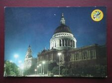 POSTCARD LONDON ST PAULS CATHEDRAL IN THE EVENING