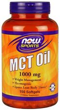 MCT Oil 1000mg 150 Softgels Now Foods, Weight Loss