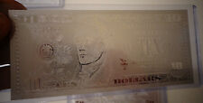 10 Dollar Silver _New Usa Bill *Each In Hard Bill Holder* Great Collectible Gift
