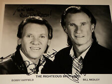 THE RIGHTEOUS BROTHERS /  8 X 10  B&W  AUTOGRAPHED  PHOTO