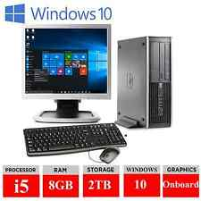 "Windows 10 FULL HP Intel Core i5 8gb 2tb il potente Fast + 19"" Monitor Full Set"