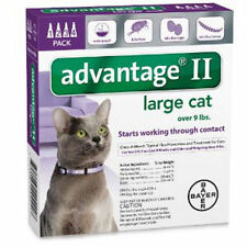 Advantage II Large Cat ~ Cats over 9 lbs, 4 Month Flea Control USA EPA APPROVED
