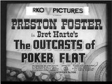 OUTCASTS OF POKER FLAT, 1937, Preston Foster, Bret Harte Western -DVD-R:Region 2
