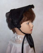 Civil War/Victorian/SASS Ladies Dress Hat/Bonnet (solid Black)