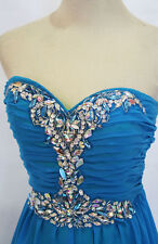 MASQUERADE BLUE IRISH Prom Formal Gown 7 - $160 NWT